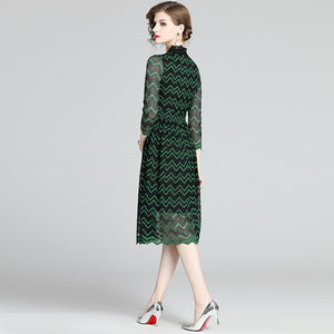 Green Midi Lace Dress