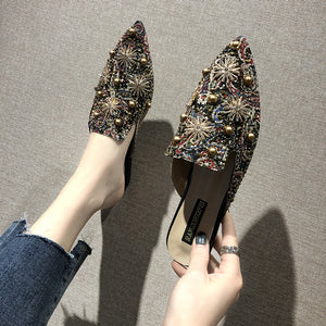 Floral Rivet  Shoes