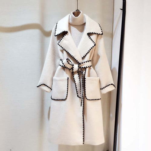 Embroidery Long  Coat