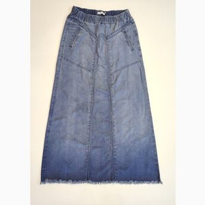 Denim Jeans Long Skirt