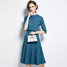 Silk Knitted Sweater Temperament Two Pieces