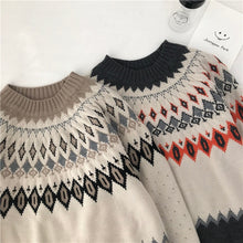 Crew Neck  Knit Pullovers