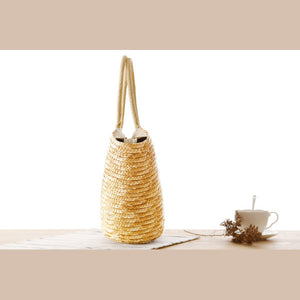 Pastoral Style Woven Straw Beach Bag
