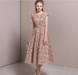 Embroidery Jacquard Dress