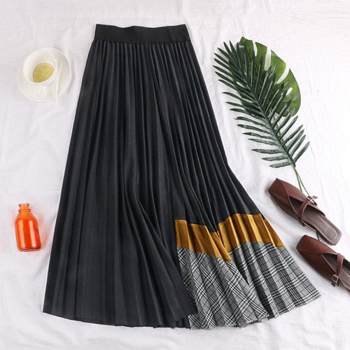 Multi-color Flare Skirt