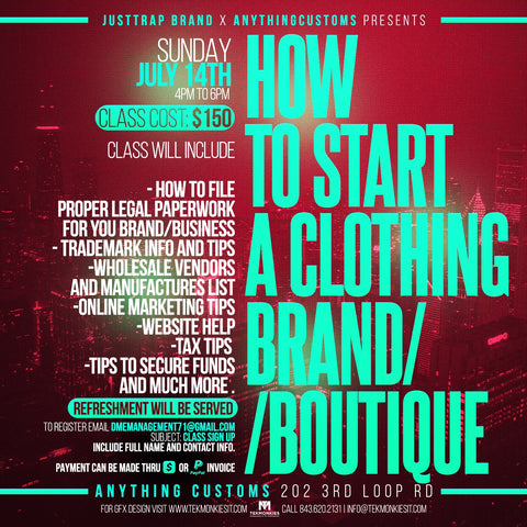 How to Start a Clothing Brand/Boutique Workshop