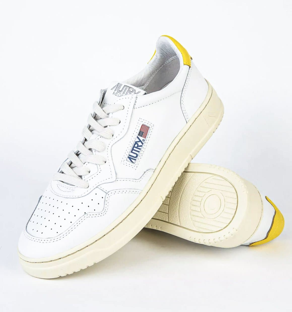 LOW SNEAKER 80's  | White/Yellow