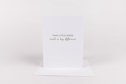 Big Difference Greeting Card