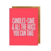 Candles and Cake Birthday Card