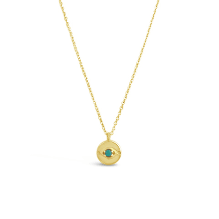 Evil Eye Necklace in Gold Vermeil