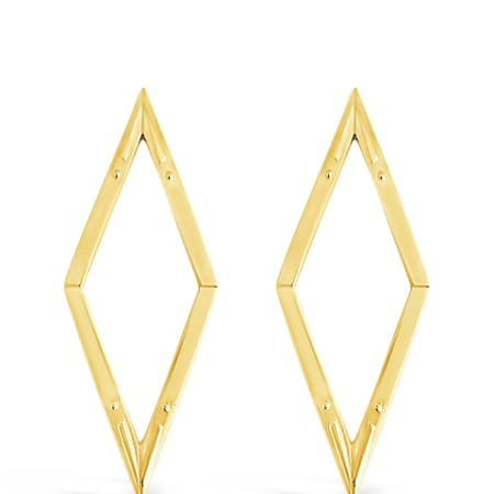 Diamond Back Earrings in Gold Vermeil by Sierra Winter Jewelry