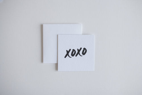 XOXO Black Mini Notecard