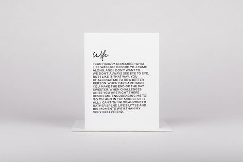Dear Wife Greeting Card