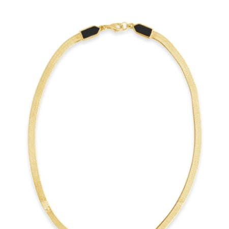 Eclipse Necklace in Gold Vermeil with Black Onyx