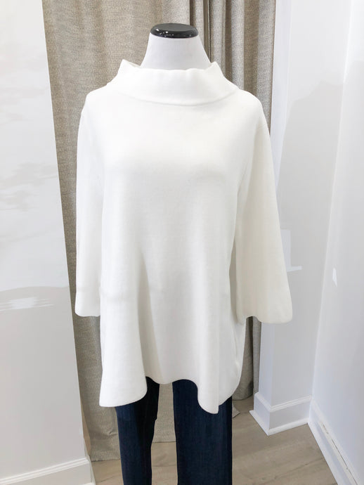 Mock Neck Sweater in Pure White