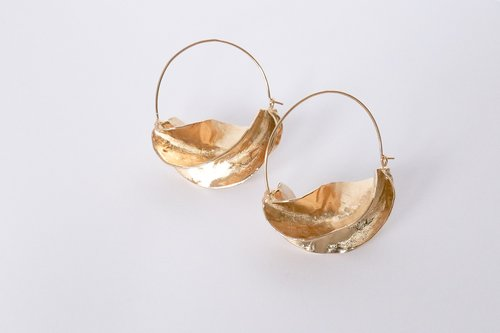 Steps of Style Gold Hoop by Emily Bordner