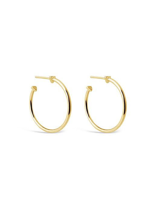 9 A.M. Hoop Earrings in Gold Vermeil by Sierra Winter Jewelry