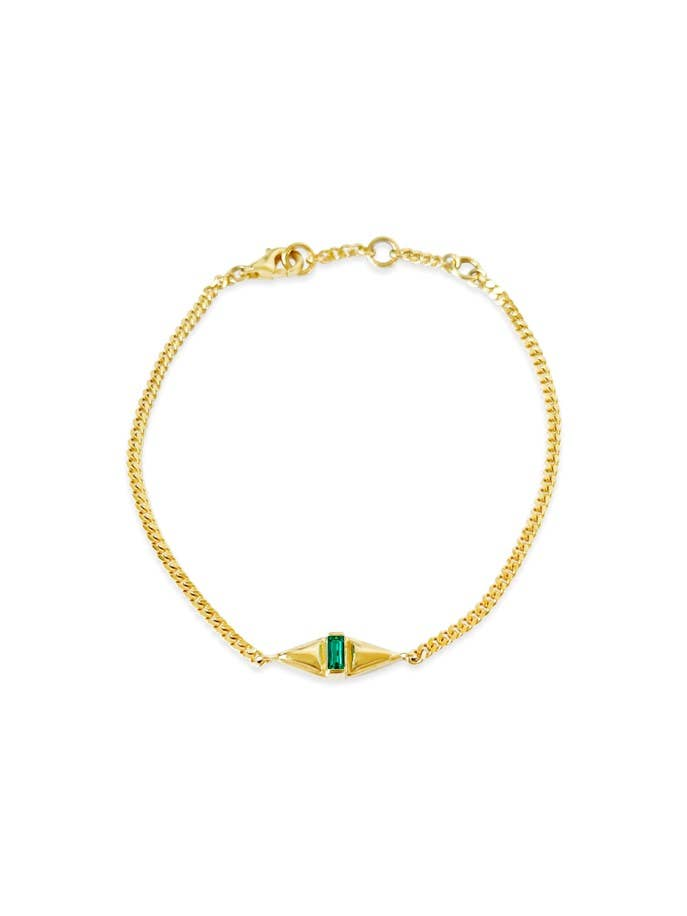 Femme Bracelet in Emerald by Sierra Winter Jewelry