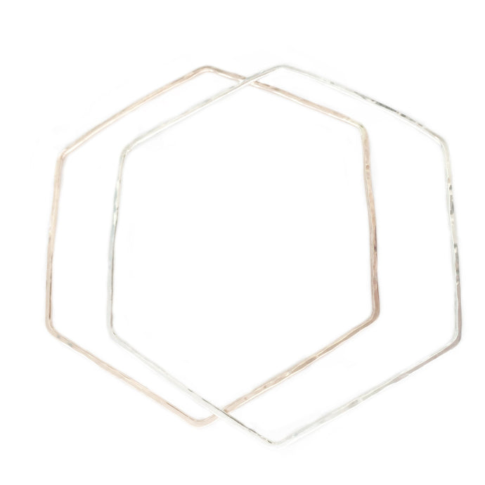 Hexagon Bangle in Gold