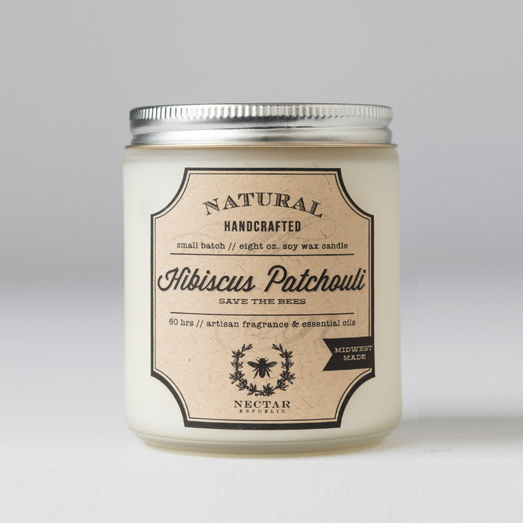 Hibiscus Patchouli 8oz Jar Candle