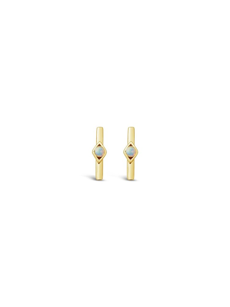 Opal Horizon Earrings in Gold Vermeil by Sierra Winter Jewelry