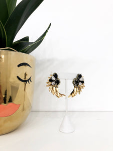 Aphrodite Earrings in Jet Black