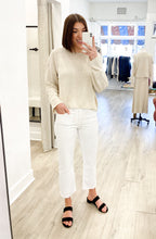 Abigail Vintage Straight Denim in Optic White