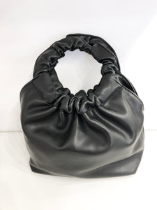Parker Ruffle Shoulder Bag in Black