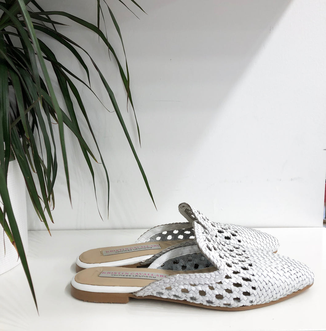 Camille Mule in White - Final Sale