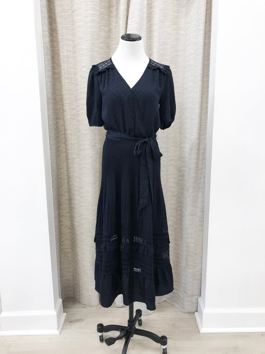 Fern Midi Dress in Navy