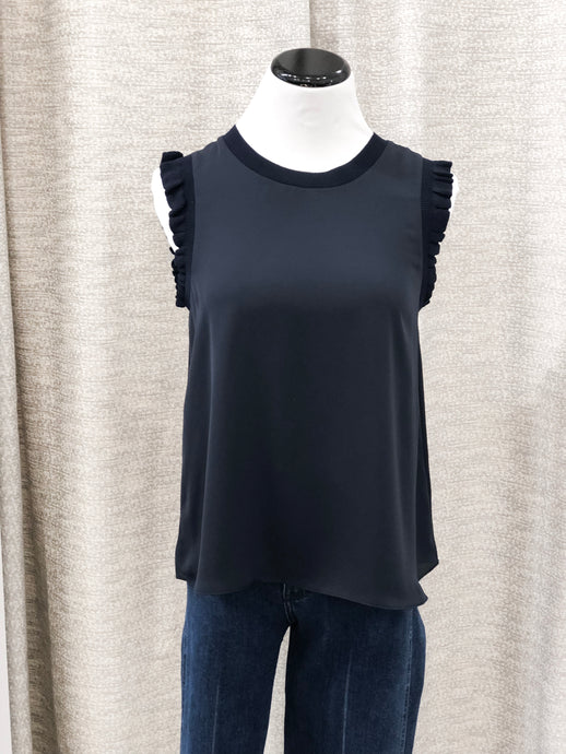 Clairee Sleeveless Top in Navy