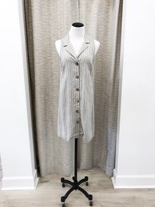 Austin Shirt Dress in Stripe - Final Sale