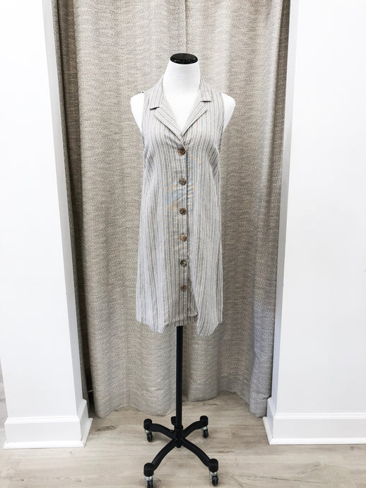 Austin Shirt Dress in Stripe