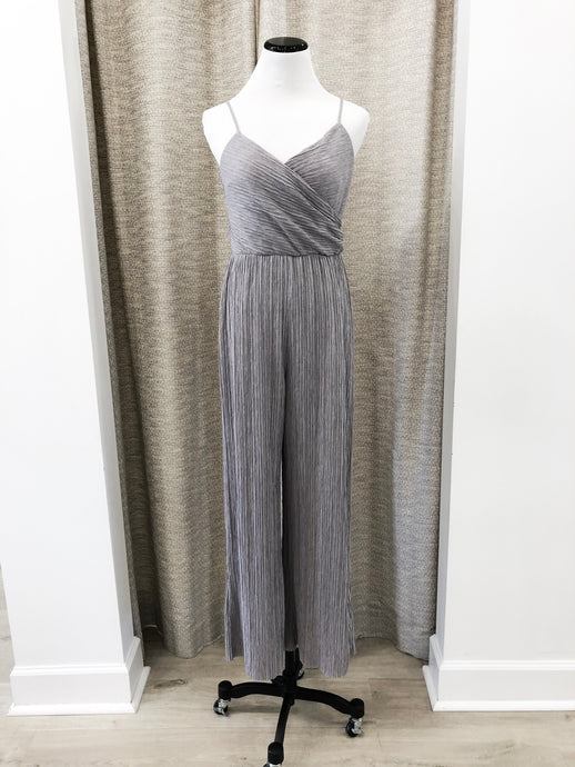 Whitney Jumpsuit in Grey Cupro