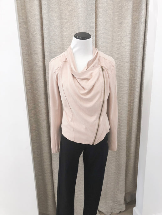 Maxwell Jacket in Blush Faux Suede