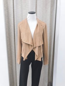 Maxwell Jacket in Tan Faux Suede