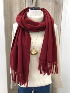 Cashmere Scarf in Wine - FINAL SALE