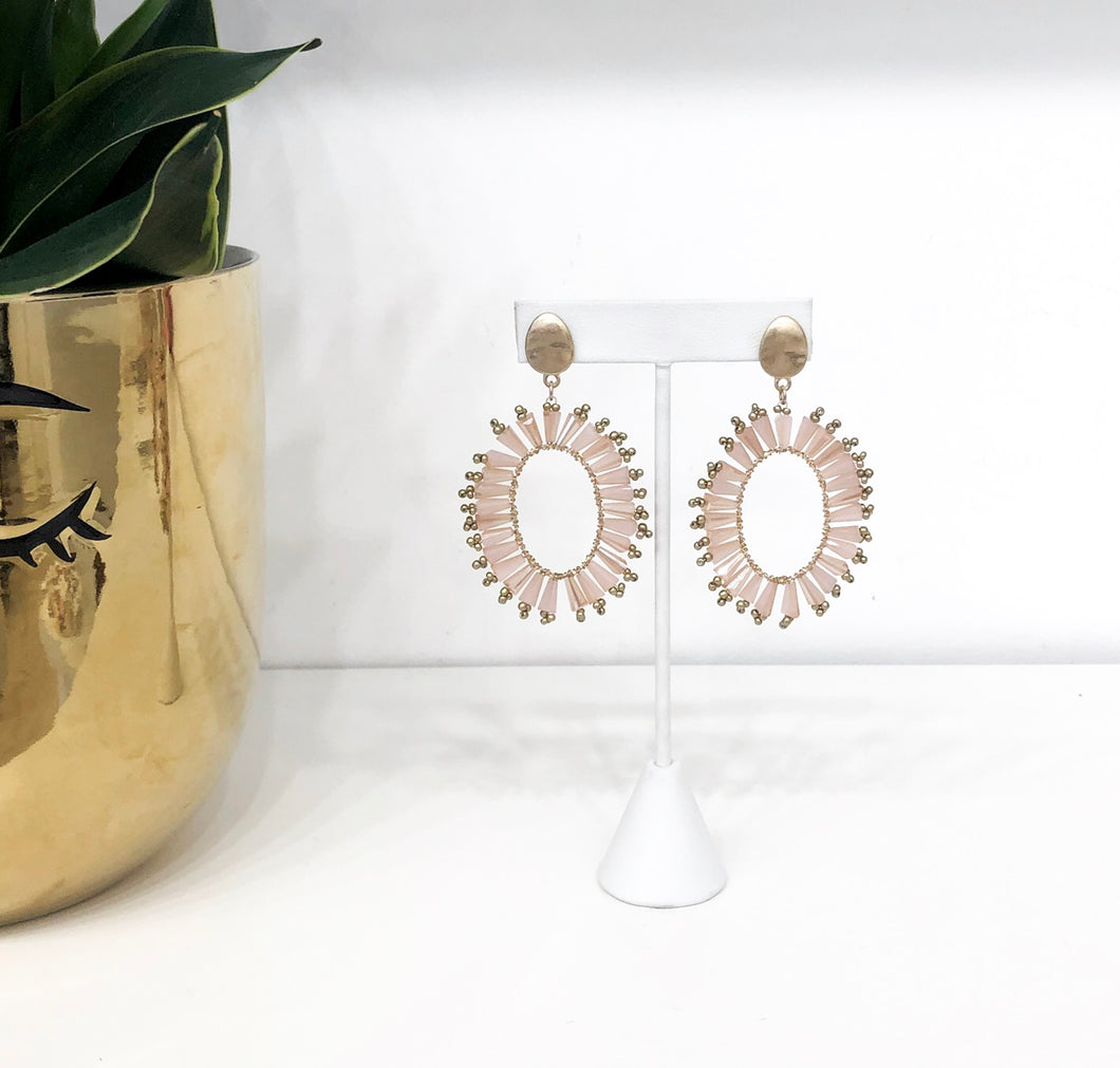 Iris Earrings in Peach