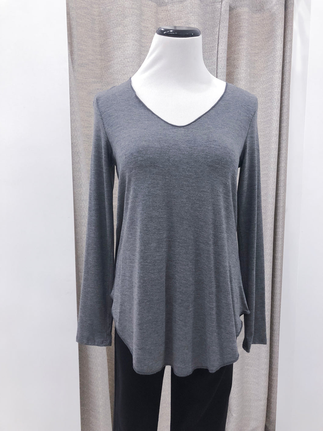 Everyday Long Sleeve Tee in Charcoal