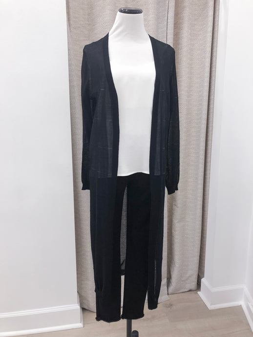 Bobbi Long Cardigan in Black