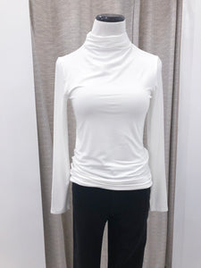 Susan Mock Neck Top in Ivory