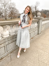 Carrie Button Up Dress in Light Blue