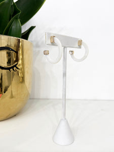 Mother of Pearl Baby Hoop Earrings