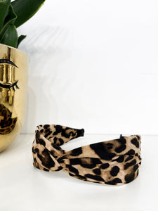 Serena Headband in Leopard