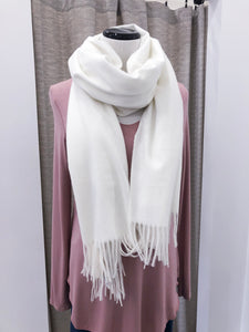 Cashmere Scarf in Ivory