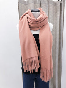 Cashmere Scarf in Peach