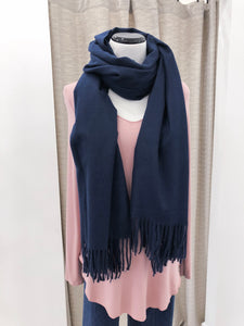 Cashmere Scarf in Navy