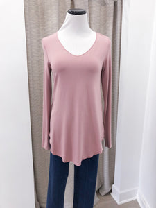 Everyday Long Sleeve Tee in Blush