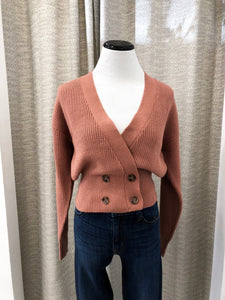 Harrison Sweater Cardigan in Blush by J.O.A.
