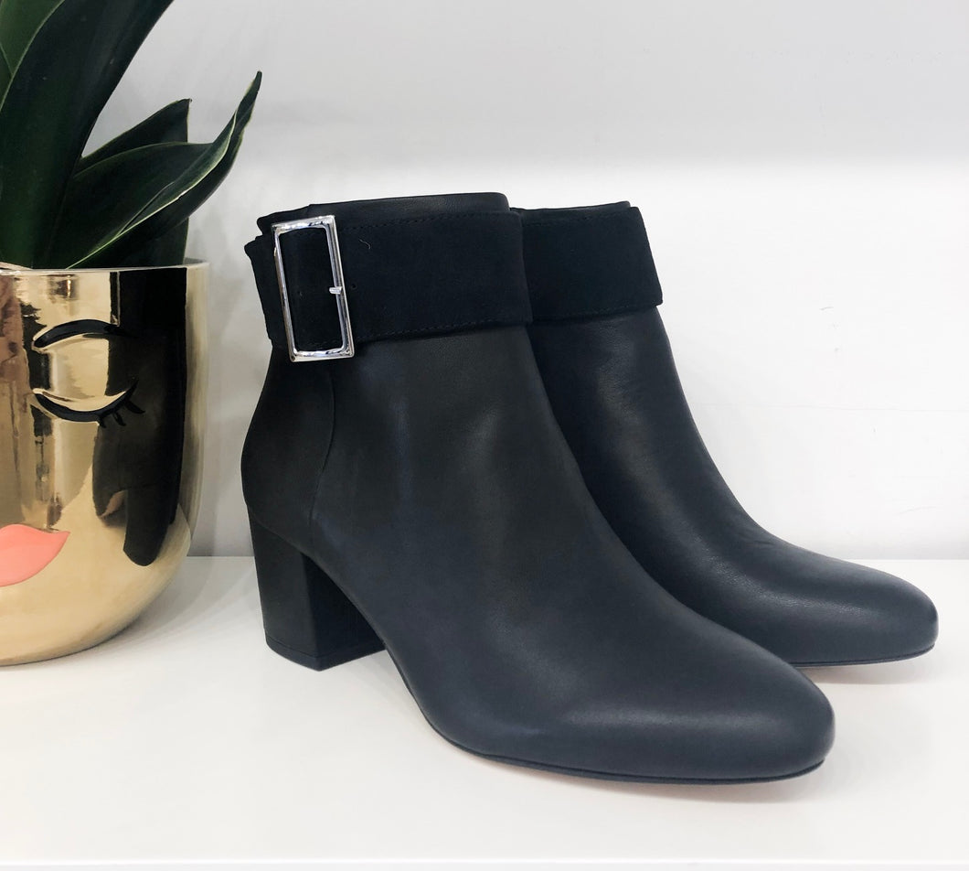 Palan Buckle Booties in Black - FINAL SALE